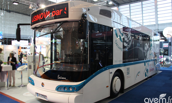 businova le bus multi hybride de safra au salon du